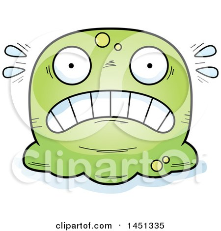 Clipart Graphic of a Cartoon Scared Blob Character Mascot - Royalty Free Vector Illustration by Cory Thoman
