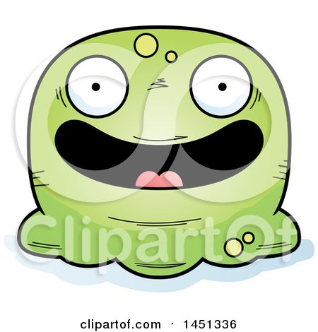 Clipart Graphic of a Cartoon Happy Blob Character Mascot - Royalty Free Vector Illustration by Cory Thoman