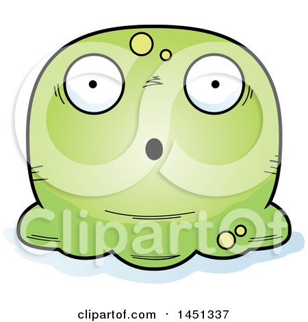 Clipart Graphic of a Cartoon Surprised Blob Character Mascot - Royalty Free Vector Illustration by Cory Thoman