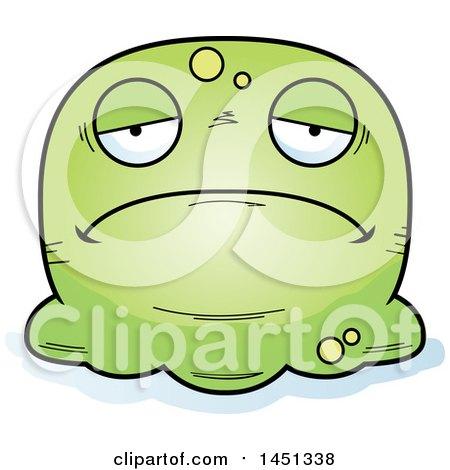 Clipart Graphic of a Cartoon Sad Blob Character Mascot - Royalty Free Vector Illustration by Cory Thoman