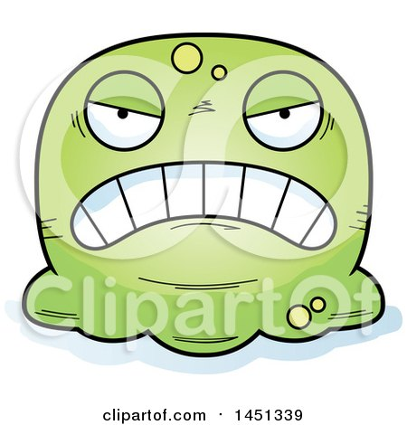 Clipart Graphic of a Cartoon Mad Blob Character Mascot - Royalty Free Vector Illustration by Cory Thoman