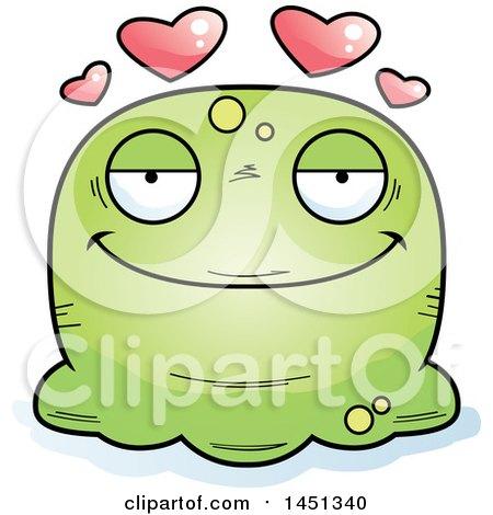 Clipart Graphic of a Cartoon Loving Blob Character Mascot - Royalty Free Vector Illustration by Cory Thoman