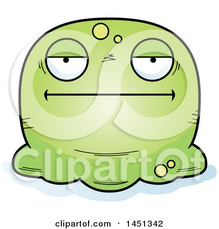 Clipart Graphic of a Cartoon Bored Blob Character Mascot - Royalty Free Vector Illustration by Cory Thoman