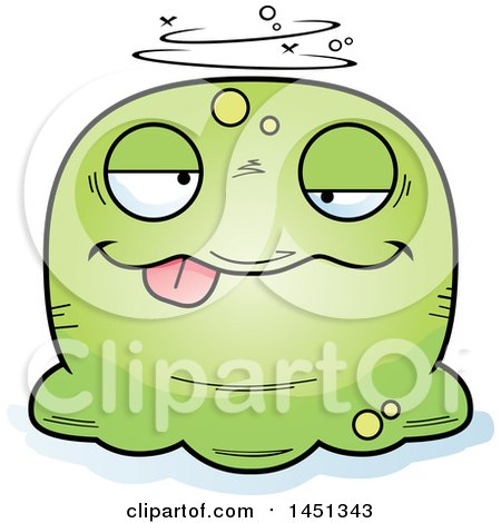 Clipart Graphic of a Cartoon Drunk Blob Character Mascot - Royalty Free Vector Illustration by Cory Thoman
