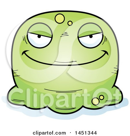 Clipart Graphic of a Cartoon Evil Blob Character Mascot - Royalty Free Vector Illustration by Cory Thoman