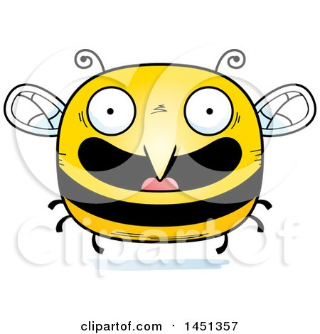 Clipart Graphic of a Cartoon Happy Bee Character Mascot - Royalty Free Vector Illustration by Cory Thoman