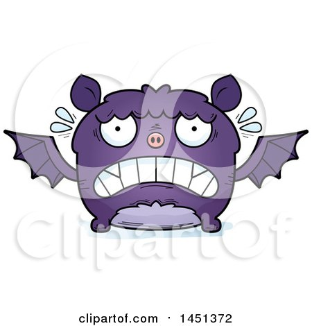 Clipart Graphic of a Cartoon Scared Flying Bat Character Mascot - Royalty Free Vector Illustration by Cory Thoman