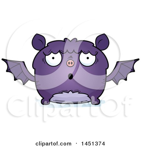 Clipart Graphic of a Cartoon Surprised Flying Bat Character Mascot - Royalty Free Vector Illustration by Cory Thoman