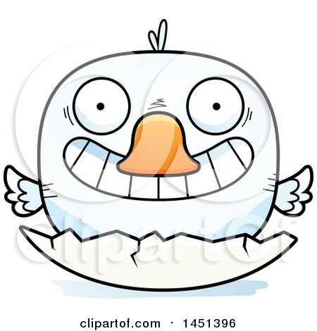 Clipart Graphic of a Cartoon Hatching Duck Character Mascot - Royalty Free Vector Illustration by Cory Thoman
