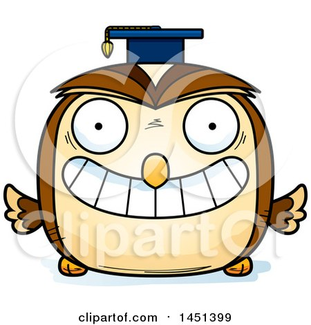 Clipart Graphic of a Cartoon Graduate Owl Character Mascot - Royalty Free Vector Illustration by Cory Thoman