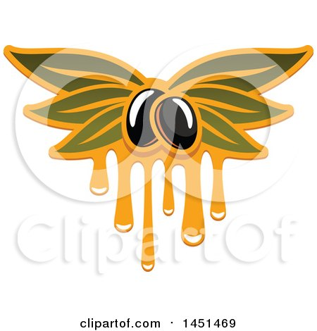 Clipart Graphic of a Black Olive and Oil Design - Royalty Free Vector Illustration by Vector Tradition SM