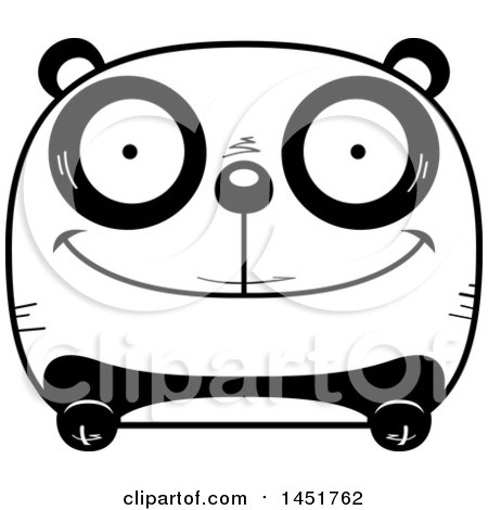 Clipart Graphic of a Cartoon Black and White Happy Panda Character Mascot - Royalty Free Vector Illustration by Cory Thoman