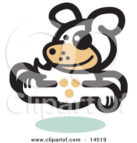 Gleeful Dog Running Clipart Illustration by Andy Nortnik