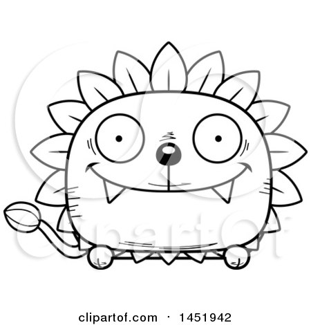 Cartoon Black and White Lineart Happy Dandelion Character Mascot Posters, Art Prints