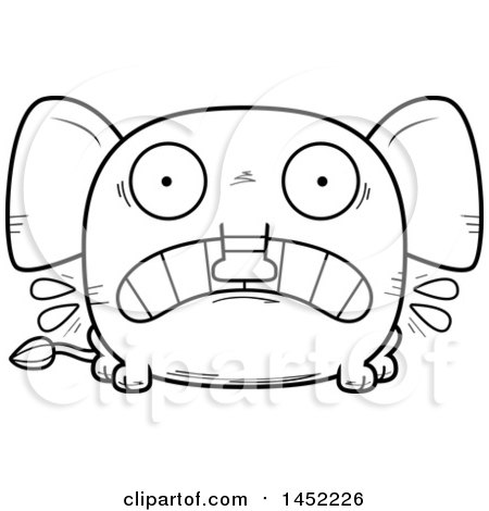 Clipart Graphic of a Cartoon Black and White Lineart ...