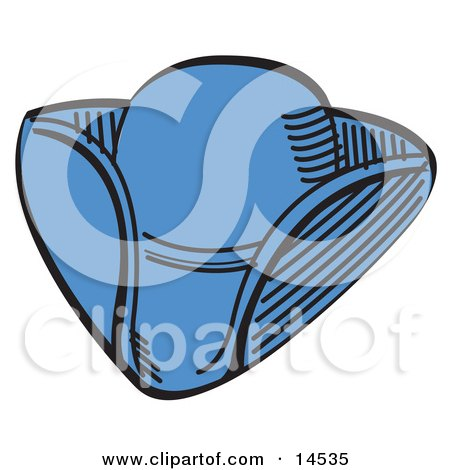 Tricorn Hat Over A White Background Clipart Illustration