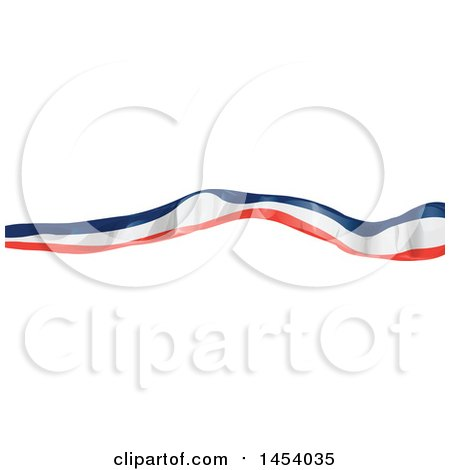 Clipart of a French Ribbon Flag Banner Design Element - Royalty Free Vector Illustration by Domenico Condello