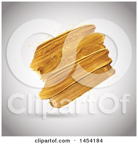 Golden Paint Strokes on a Shaded Background Posters, Art Prints