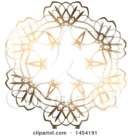 Clipart Graphic of a Fancy and Ornate Golden Design Element - Royalty Free Vector Illustration by KJ Pargeter