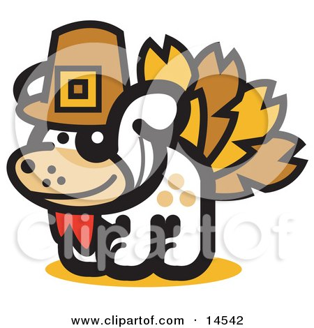 Dog Disguised as a Thanksgiving Turkey  Posters, Art Prints