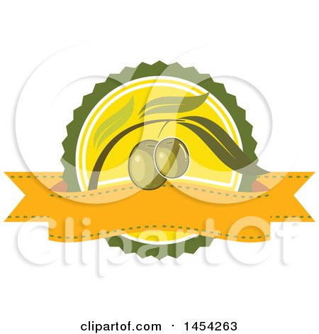 Clipart Graphic of a Green Olives Design - Royalty Free Vector Illustration by Vector Tradition SM