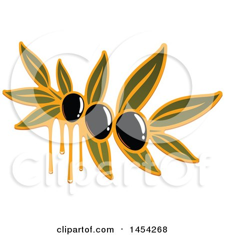 Clipart Graphic of a Black Olives and Oil Design - Royalty Free Vector Illustration by Vector Tradition SM