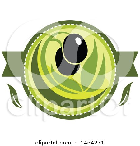 Clipart Graphic of a Black Olives Design - Royalty Free Vector Illustration by Vector Tradition SM