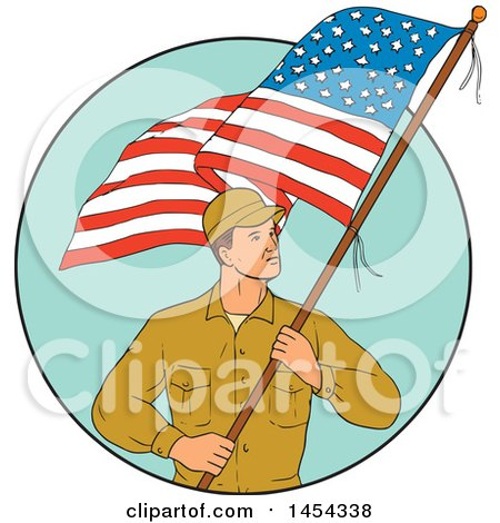 Royalty-Free (RF) American Soldier Clipart, Illustrations, Vector ...