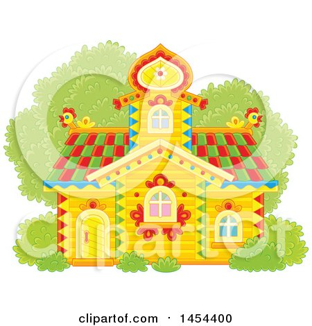 Clipart Graphic of a Cottage - Royalty Free Vector Illustration by Alex Bannykh