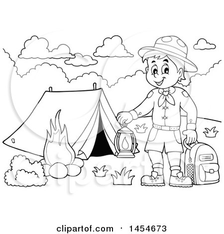 tiger scout coloring sheets boyscout camping backpack