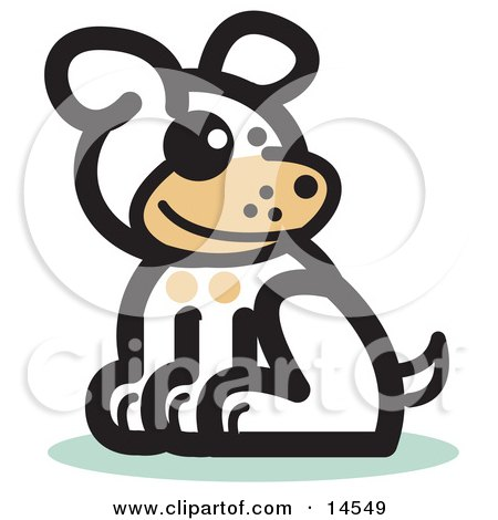 Cute Dog Sitting Clipart Illustration by Andy Nortnik