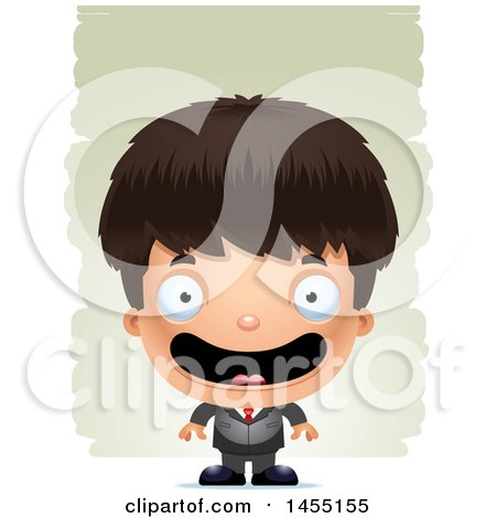Clipart Graphic of a 3d Happy Business Boy Against Strokes - Royalty Free Vector Illustration by Cory Thoman