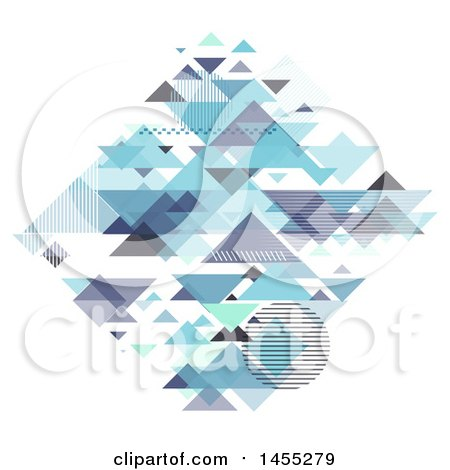 Clipart of a Diamond Formed of Geometric Pyramids on White - Royalty Free Vector Illustration by KJ Pargeter