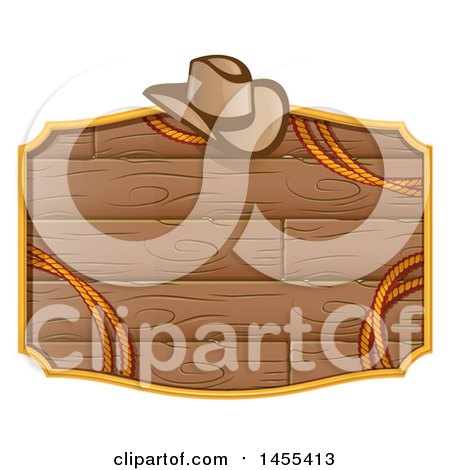 Western Styled Wooden Sign with a Cowboy Hat and Rope Posters, Art Prints