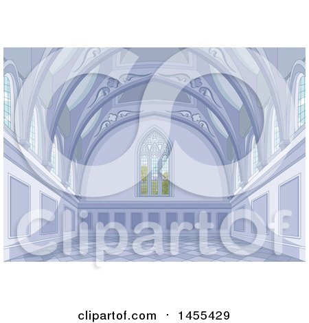 Clipart of a Medieval Palace Interior - Royalty Free Vector Illustration by Pushkin