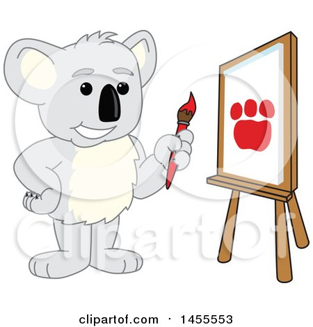 Koala Bear School Mascot Character Artist Painting a Canvas Posters, Art Prints