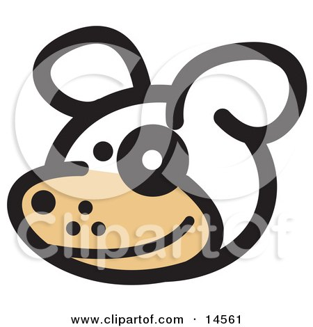 Cute Dog With a Spot Over His Eye Clipart Illustration by Andy Nortnik