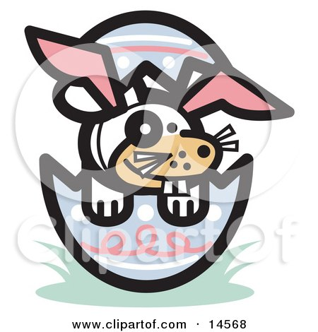 Buck Toothed Dog Wearing Bunny Ears in an Easter Egg  Posters, Art Prints