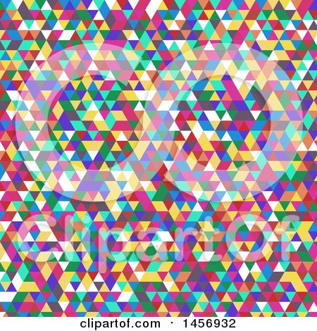 Clipart of a Colorful Triangle Background - Royalty Free Vector Illustration by KJ Pargeter