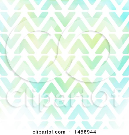 Clipart of a Watercolor Triangle or Arrow Pattern - Royalty Free ...