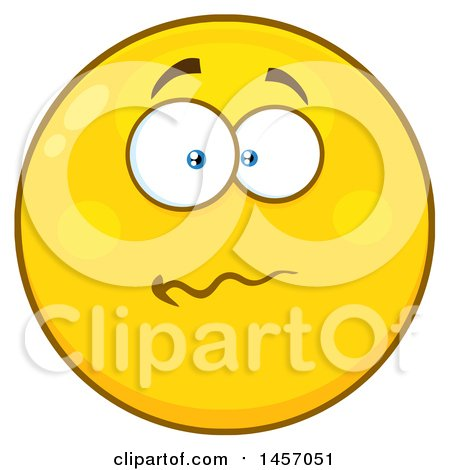 clipart of a cartoon worried yellow emoji smiley face royalty free rh clipartof com Silly Cartoon Faces worried face cartoon images