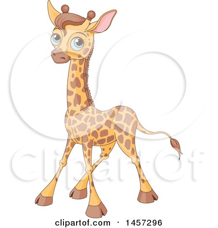 Cute Blue Eyed Baby Giraffe Posters, Art Prints