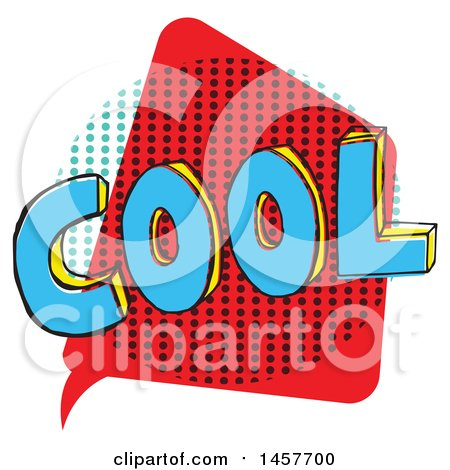 Clipart of a Comic Styled Pop Art Cool Word Bubble - Royalty Free Vector Illustration by Cherie Reve
