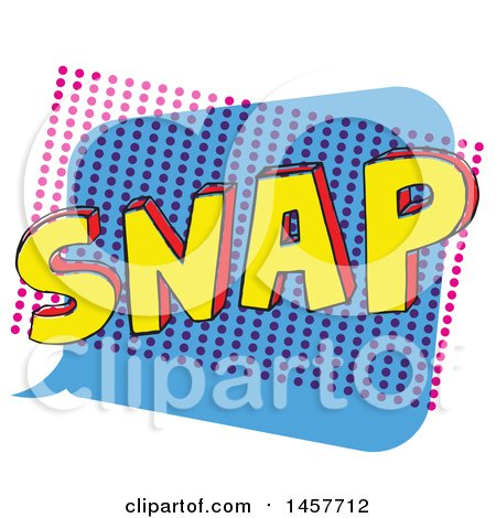 Clipart of a Comic Styled Pop Art Snap Word Bubble - Royalty Free Vector Illustration by Cherie Reve