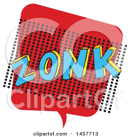 Clipart of a Comic Styled Pop Art Zonk Sound Bubble - Royalty Free Vector Illustration by Cherie Reve