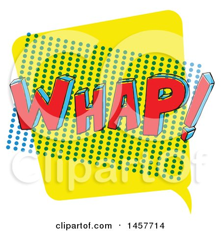 Clipart of a Comic Styled Pop Art Whap Sound Bubble - Royalty Free Vector Illustration by Cherie Reve