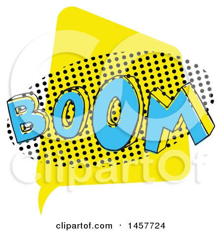 Clipart of a Comic Styled Pop Art Boom Sound Bubble - Royalty Free Vector Illustration by Cherie Reve