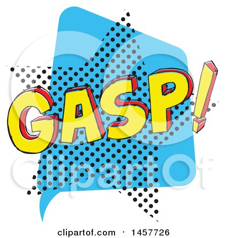 Clipart of a Comic Styled Pop Art Gasp Sound Bubble - Royalty Free Vector Illustration by Cherie Reve