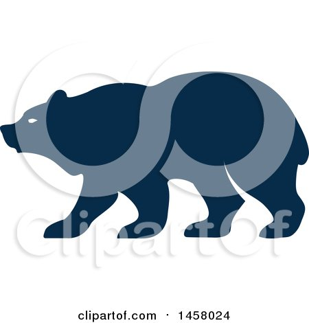 Clipart of a Blue Bear Mascot in Profile - Royalty Free Vector Illustration by Vector Tradition SM