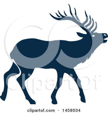 Clipart of a Blue Elk - Royalty Free Vector Illustration by Vector Tradition SM